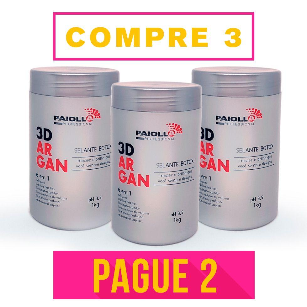 COMBO Profissional - 2 Selante BOTOX 3D Argan + 1 GRÁTIS