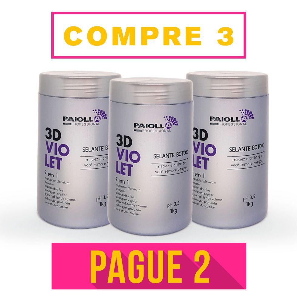 COMBO Profissional - 2 Selante BOTOX 3D Violet + 1 GRÁTIS