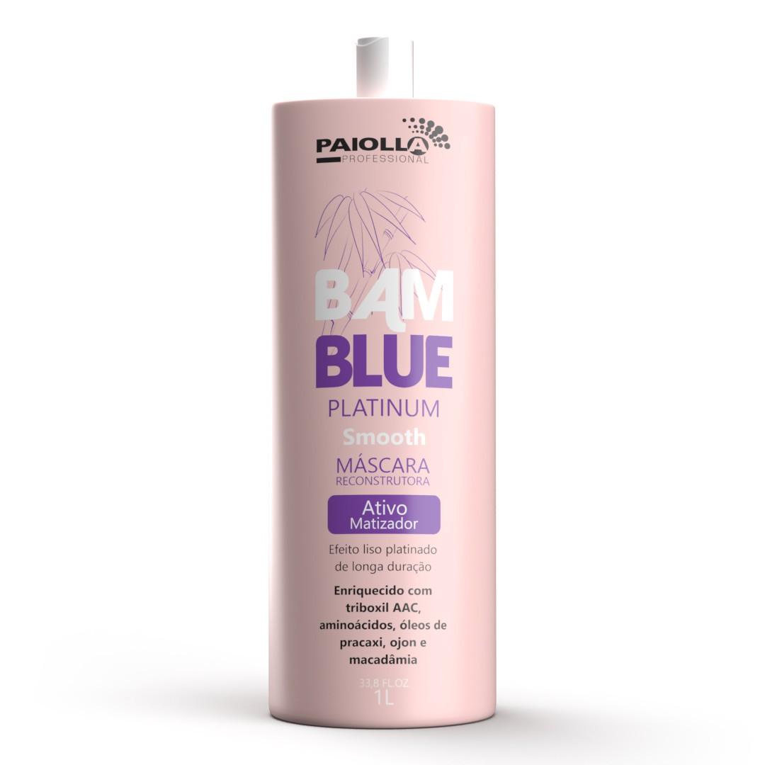 COMBO PROFISSIONAL 3 Escova Progressiva Bamblue Platinum - Sem Formol - 1l