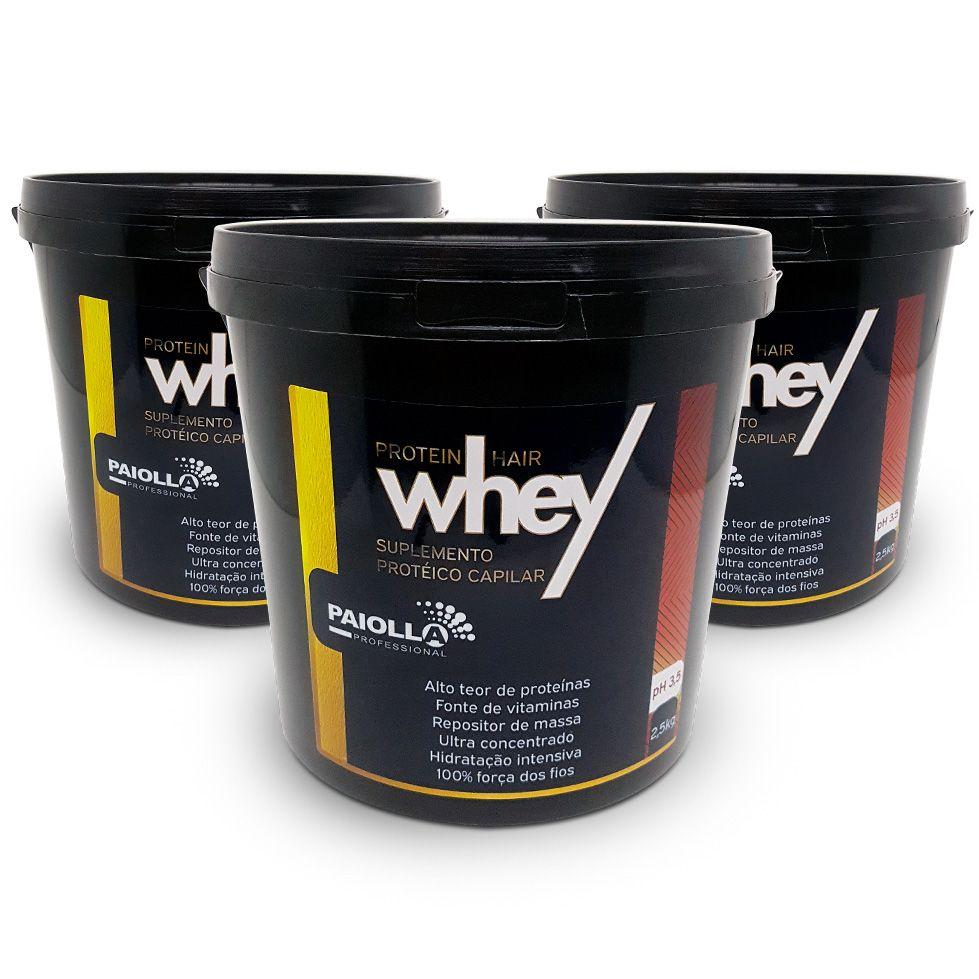 COMBO Profissional - 3 Repositor de Massa Capilar - Whey Protein