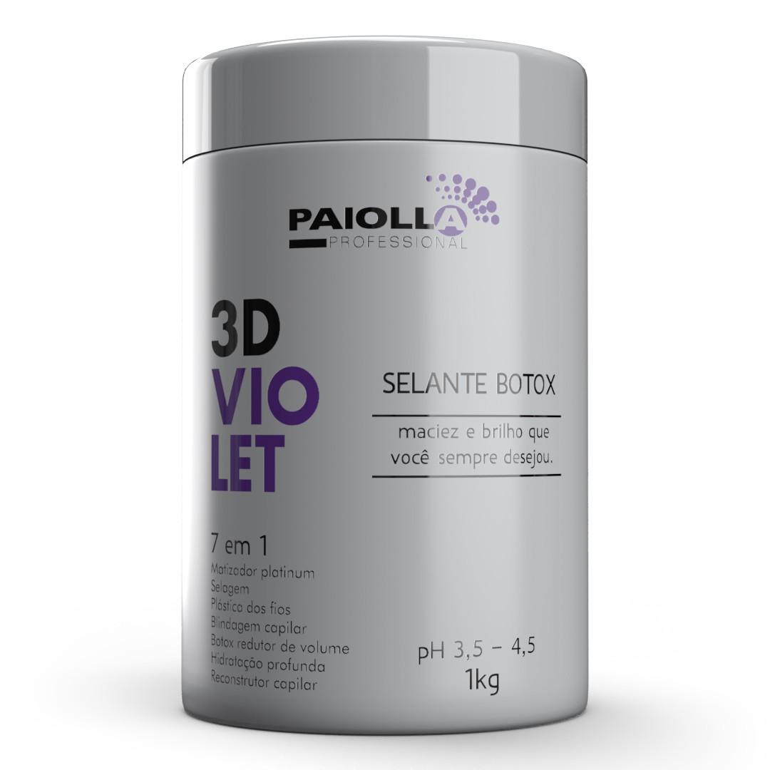 COMBO PROFISSIONAL Kit Ctim Platinum + Shampoo + Btx Violet 3D