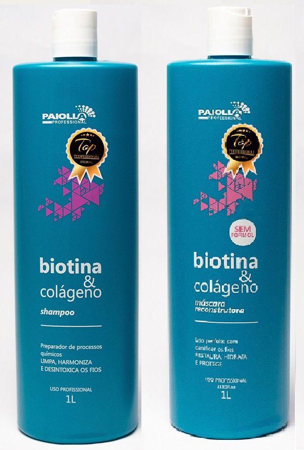 COMBO Progressiva Biotina e Colágeno Sem Formol + Shampoo
