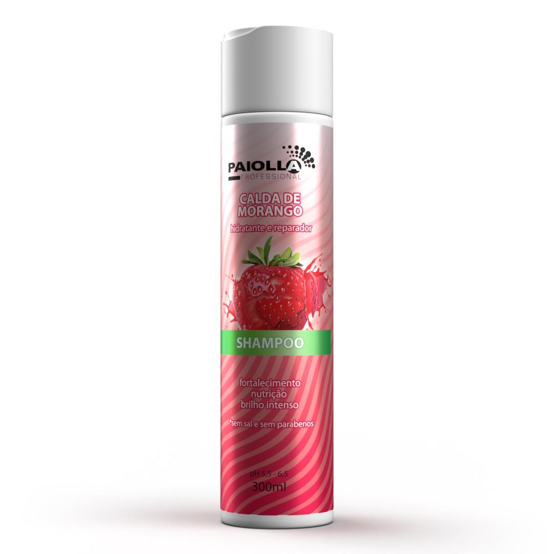 COMBO Reposição de Colágeno Shampoo Calda de Morango 300ml + Gelatina de Morango 500g + Máscara Mousse de Morango 500g