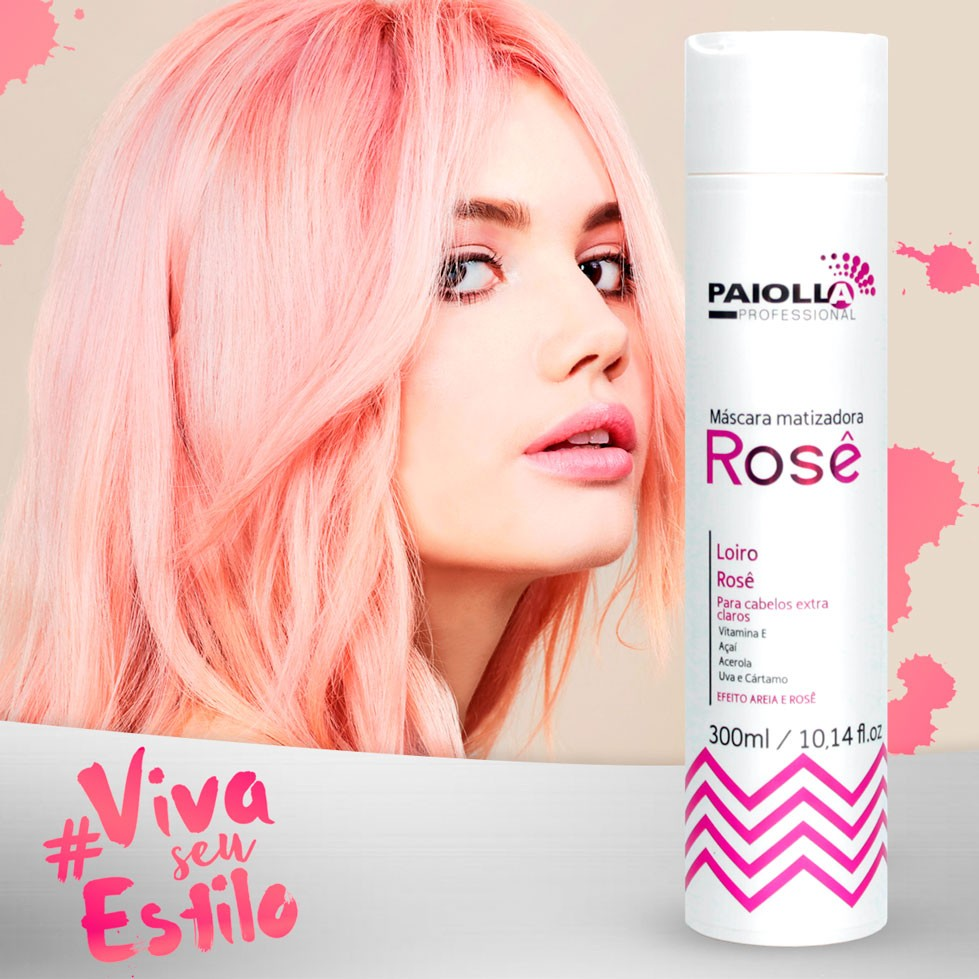 Máscara Matizadora Rose - Loiro Rose - 300ml