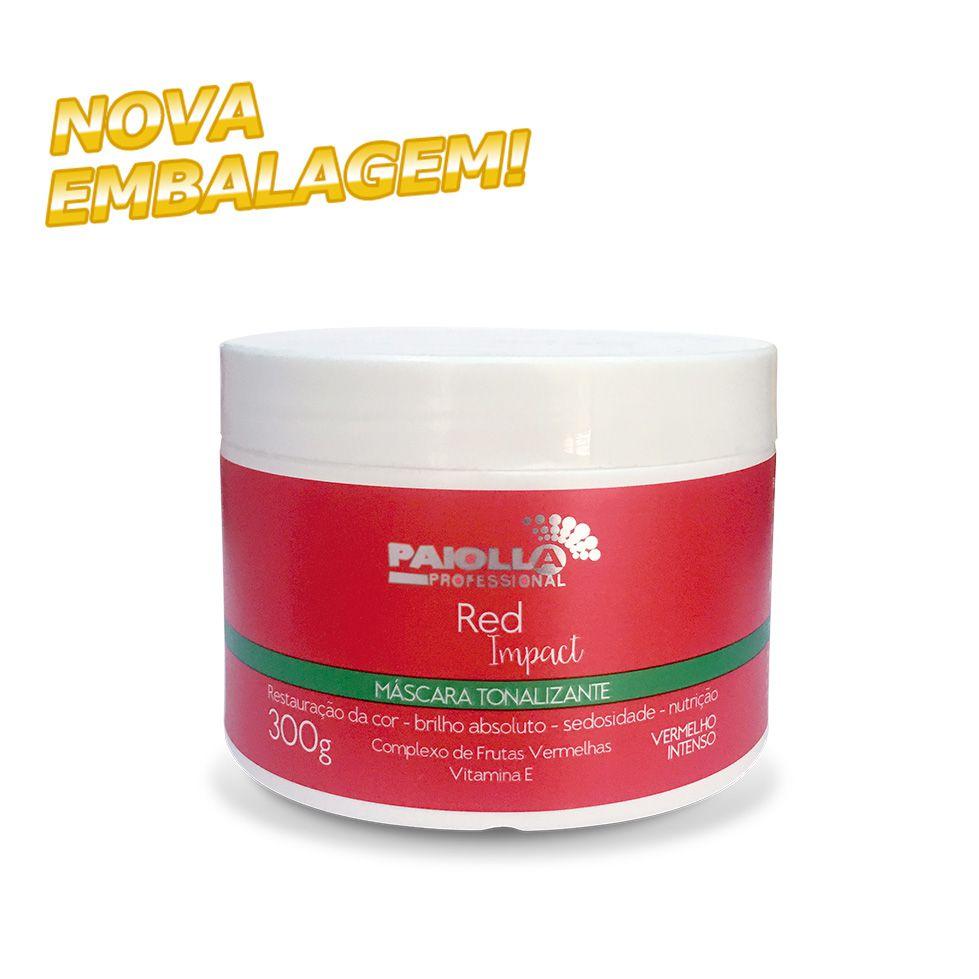 Máscara Tonalizante Vermelho Intenso - Red Impact - 300g