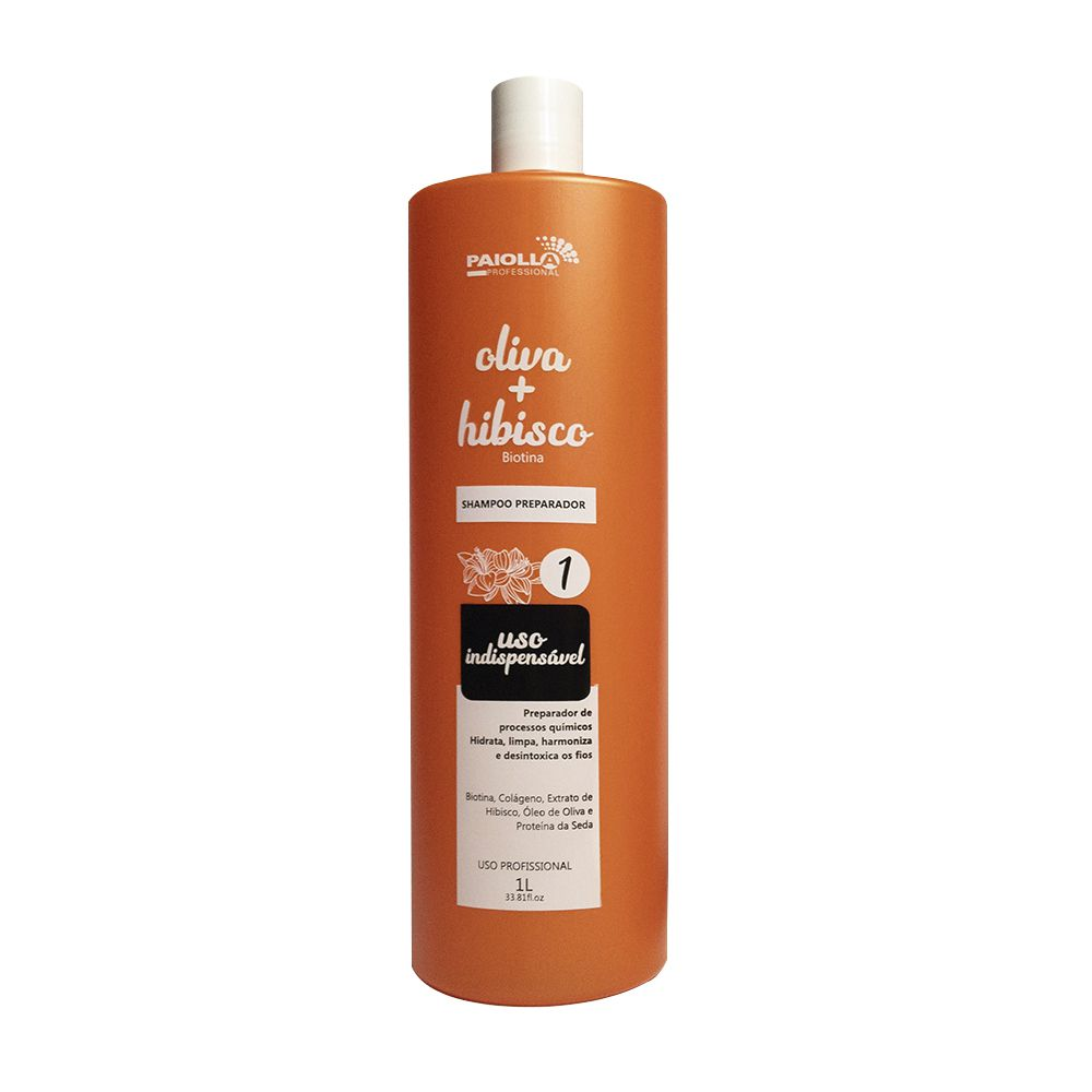 Shampoo Preparador Oliva e Hibisco 1L