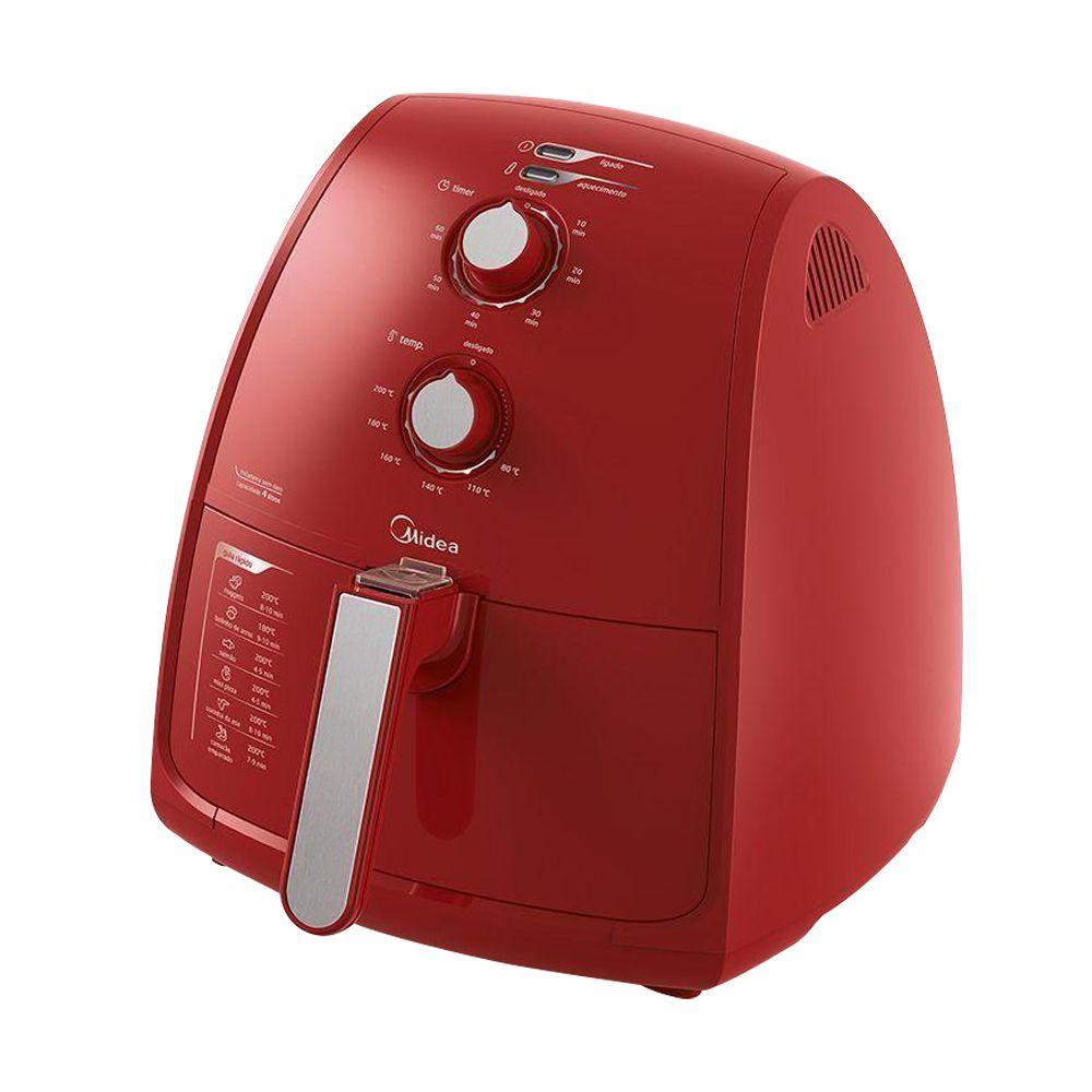 Fritadeira Air Fryer Midea Liva 4L - Vermelha  - Star Purificadores