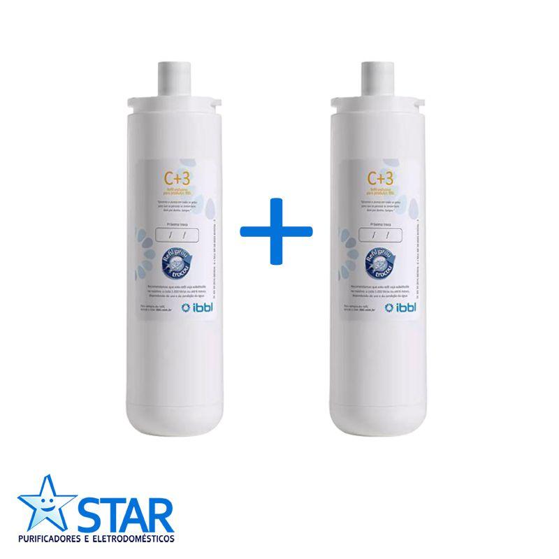 Kit Com 2 Refis C+3 - Ibbl  - Star Purificadores