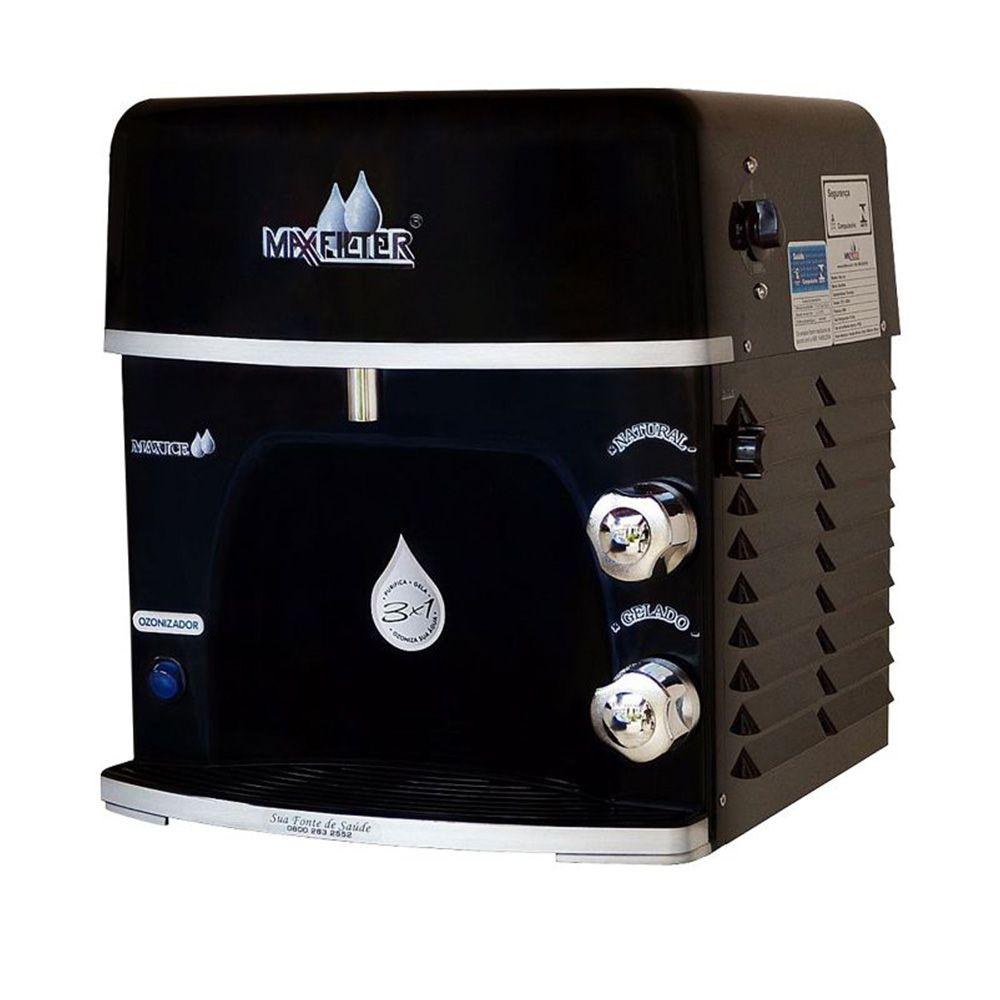 Purificador de água Maxfilter Max Ice com Ozonizador Alcalino - Preto  - Star Purificadores