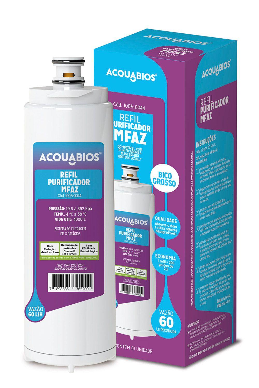 Refil para purificador Master Frio - Rotulo Azul  - MyShop