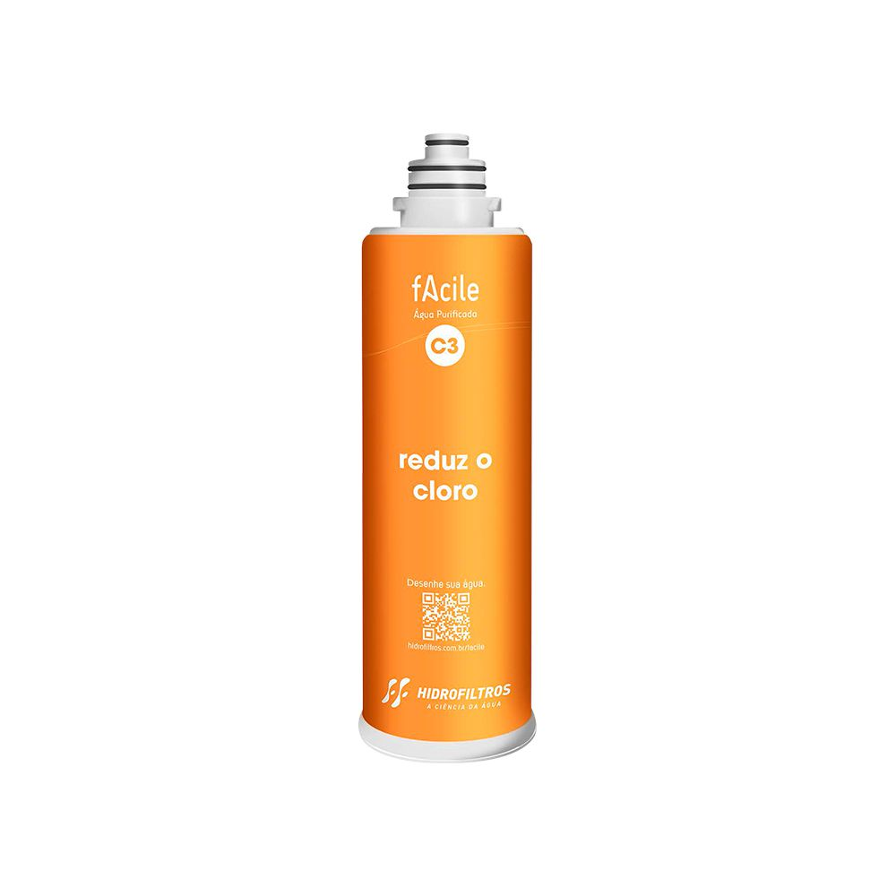 Refil purificador de água Hidrofiltros - Facile C3  - MyShop