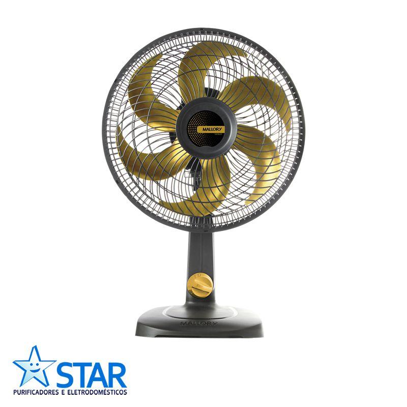 Ventilador 30cm TS30 Preto/dourado  - Star Purificadores