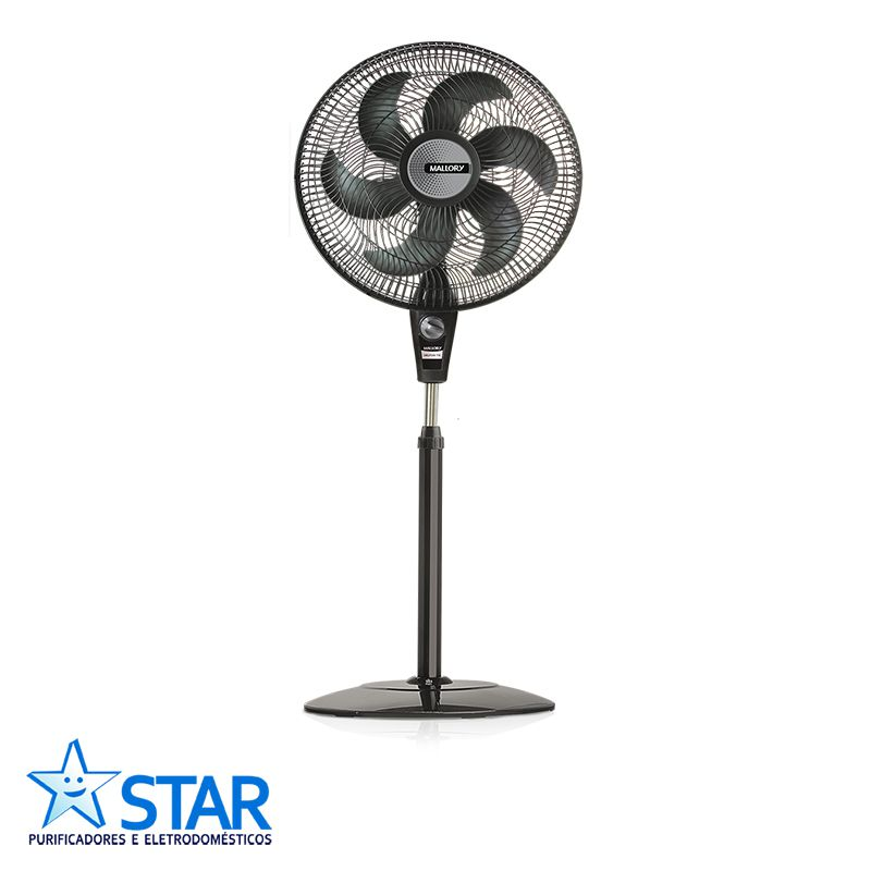 Ventilador de Coluna Delfos TS + Preto/grafite  - Star Purificadores