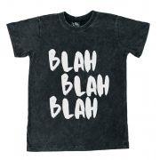 Camiseta Blah Blah Preto Estonado