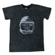 Camiseta Space Preto Estonado