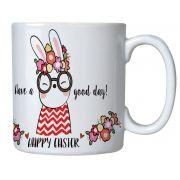 Caneca Personalizada com Nome - Páscoa Happy Easter
