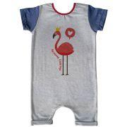 Macacão Curto Comfy Flamingo