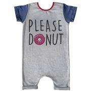Macacão Curto Comfy Please Donut