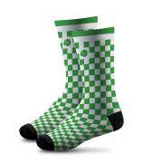 Meia Estampada Comfy Quadriculado Green