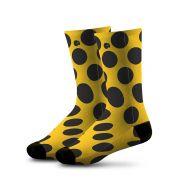 Meia Estampada Comfy Yellow Balls