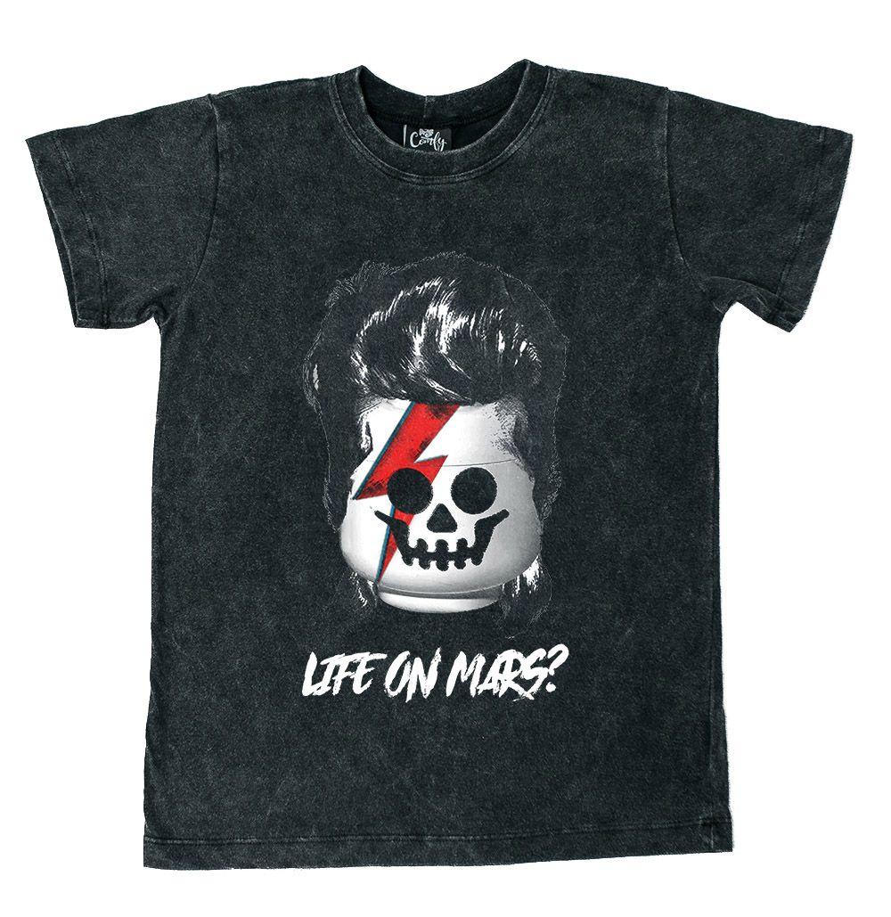 Camiseta Bloco Bowie Preto Estonado