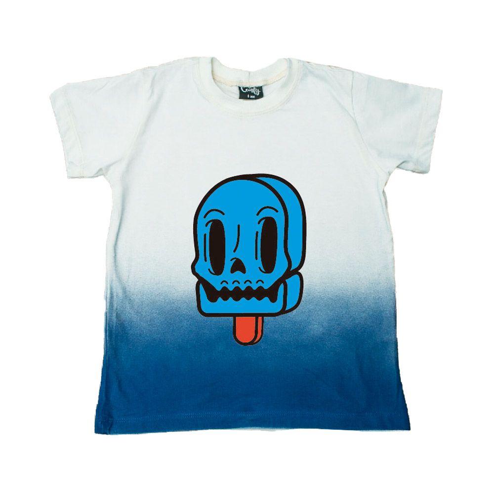 Camiseta Branca Degrade Azul Picole