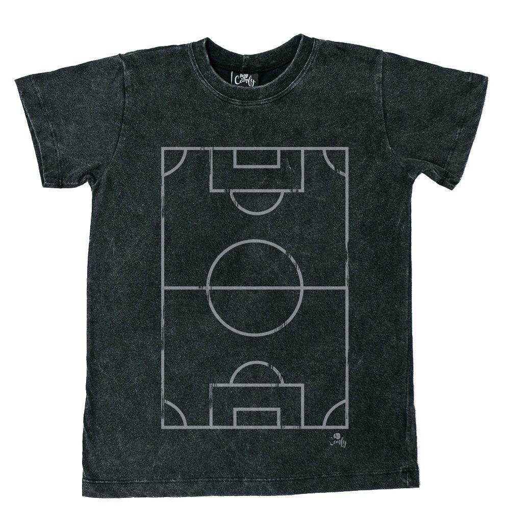 Camiseta Campo De Futebol Preto Estonado