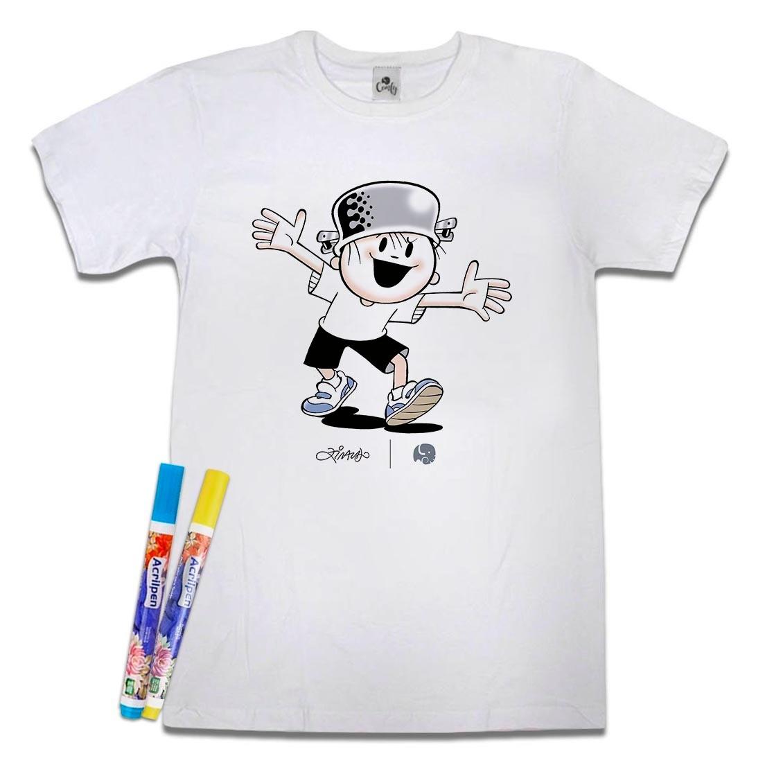 Camiseta Menino Maluquinho Para Colorir