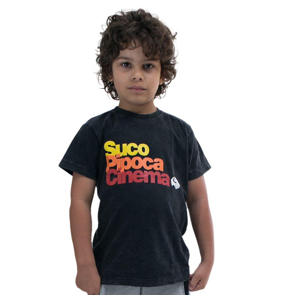 Camiseta Pipoca Preto Estonado