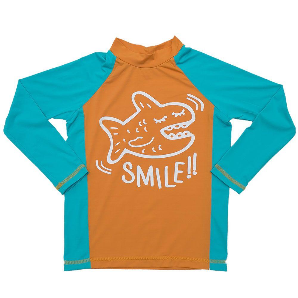 Camiseta De Lycra Smile Laranja