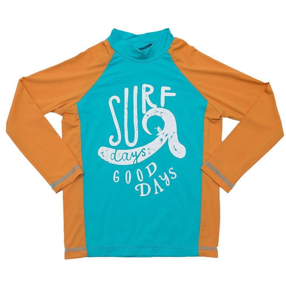 Camiseta De Lycra Surf Verde