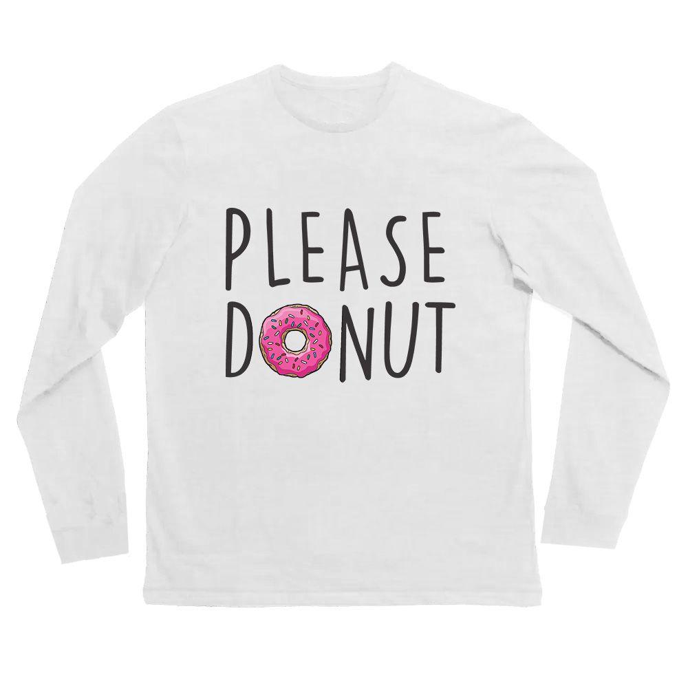 Camiseta donut manga longa Branca