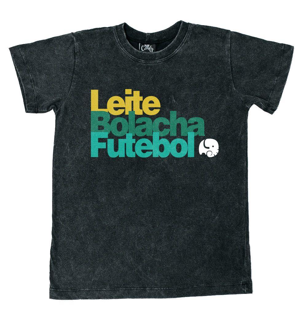 Camiseta Leite Preto Estonado