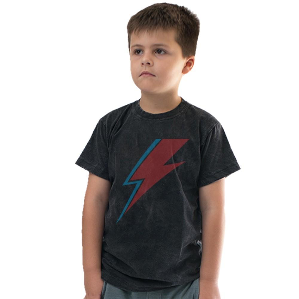 Camiseta Raio Bowie Preto Estonado