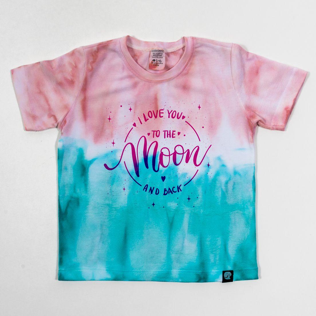 Camiseta Tie Dye Comfy Moon