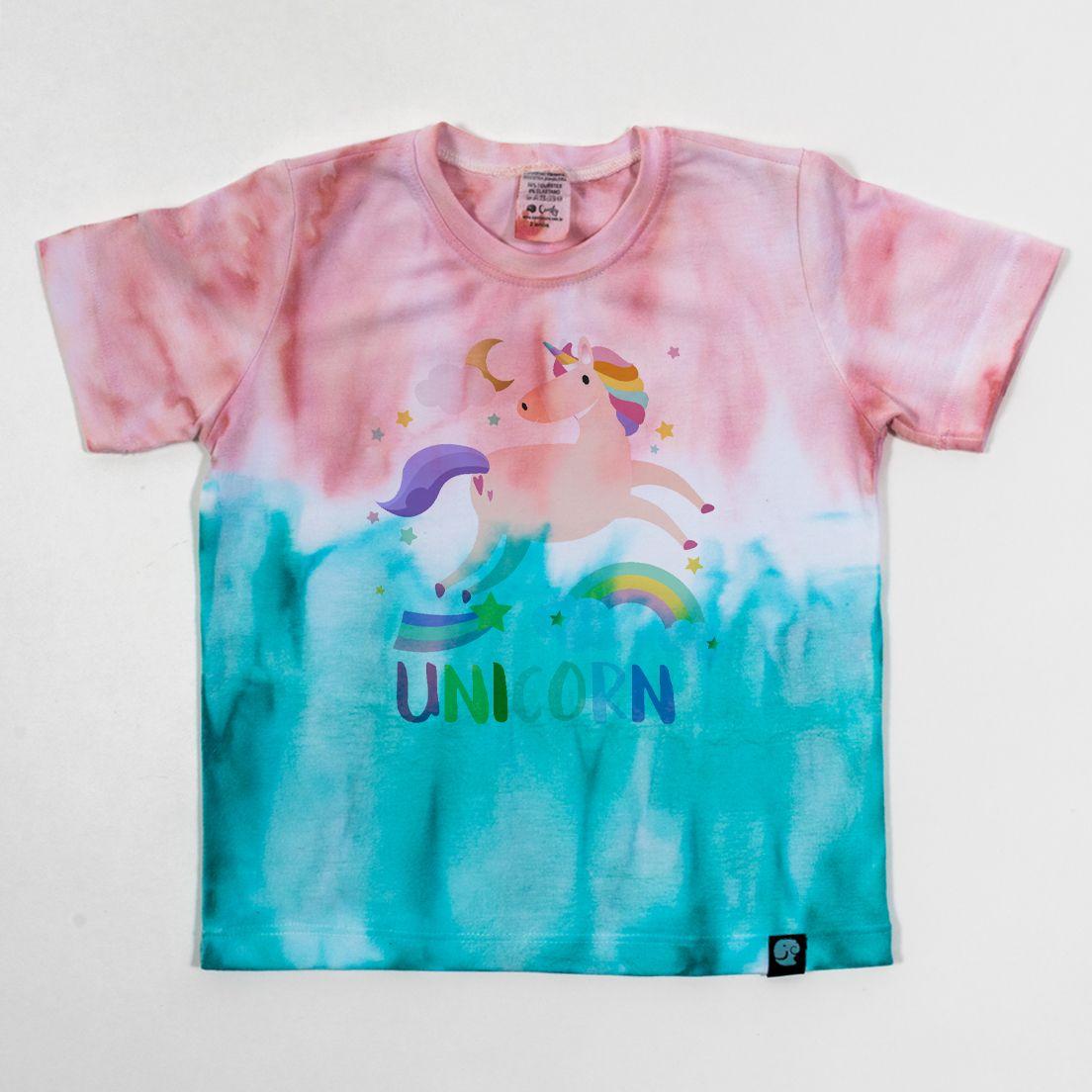 Camiseta Tie Dye Comfy Unicórnio