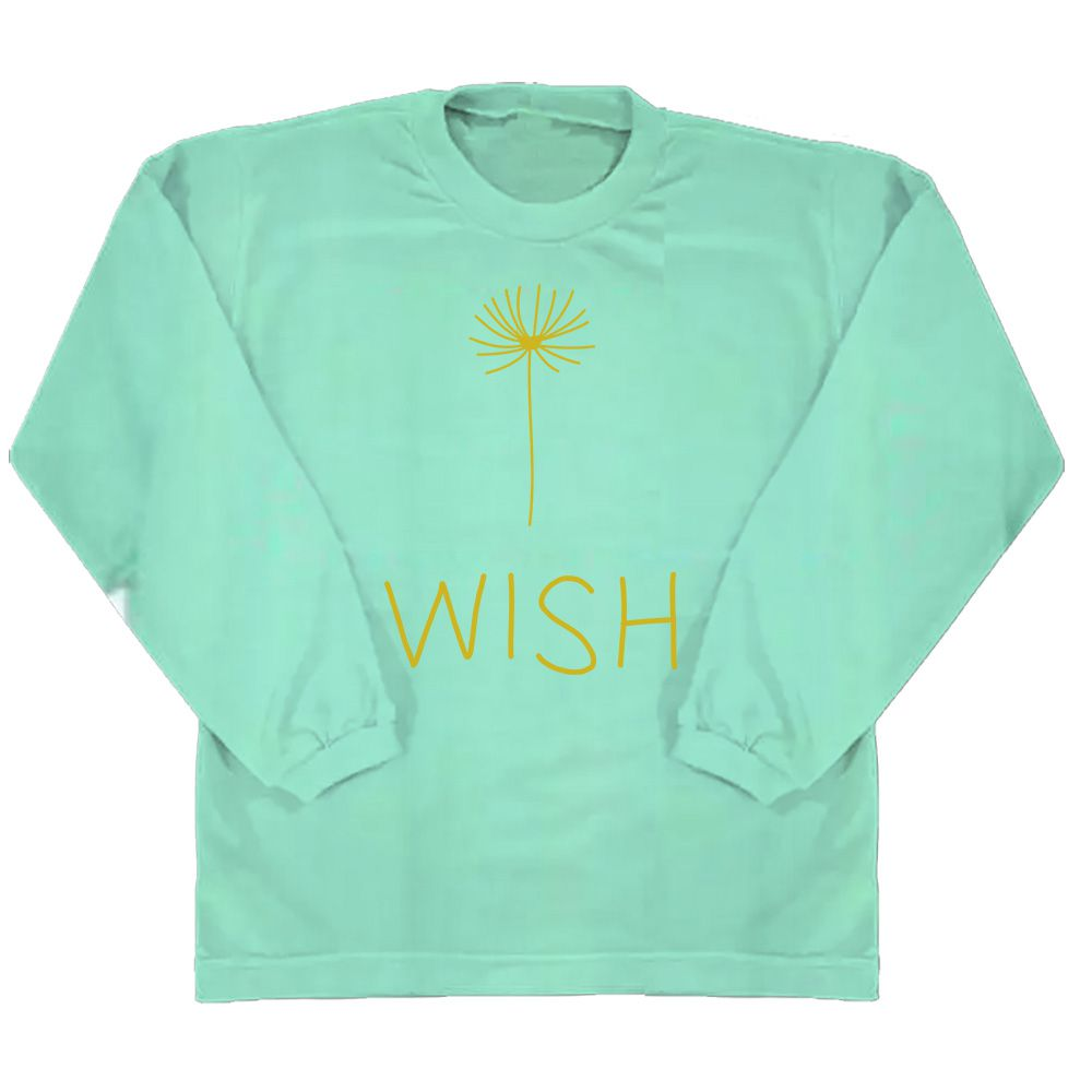 Camiseta wish manga longa Verde