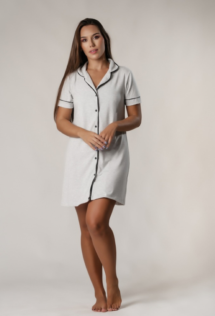Camisola Feminina Comfy Cinza