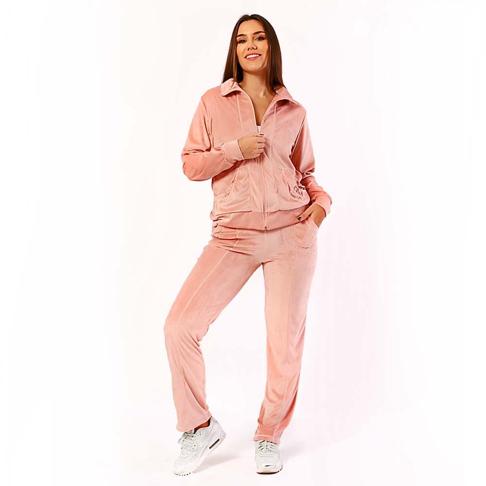 Conjunto Plush Comfy Jaqueta Mais Calça Rosa