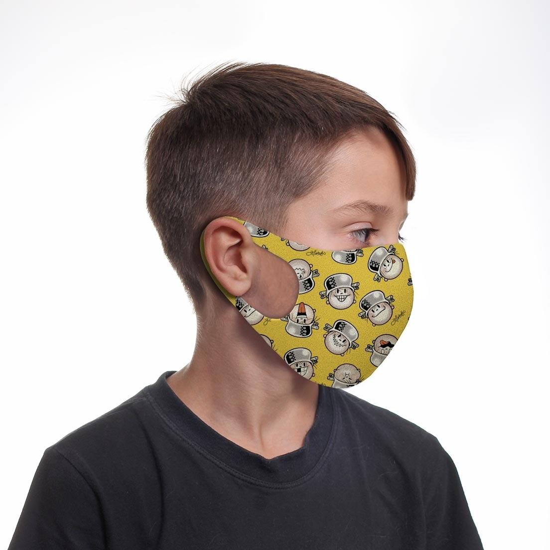 Kit 5 Máscaras Infantil Neoprene Menino Maluquinho