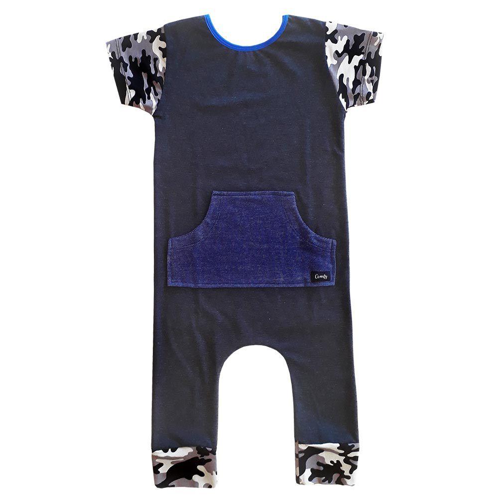 Macacão Canguru Comfy Camuflado