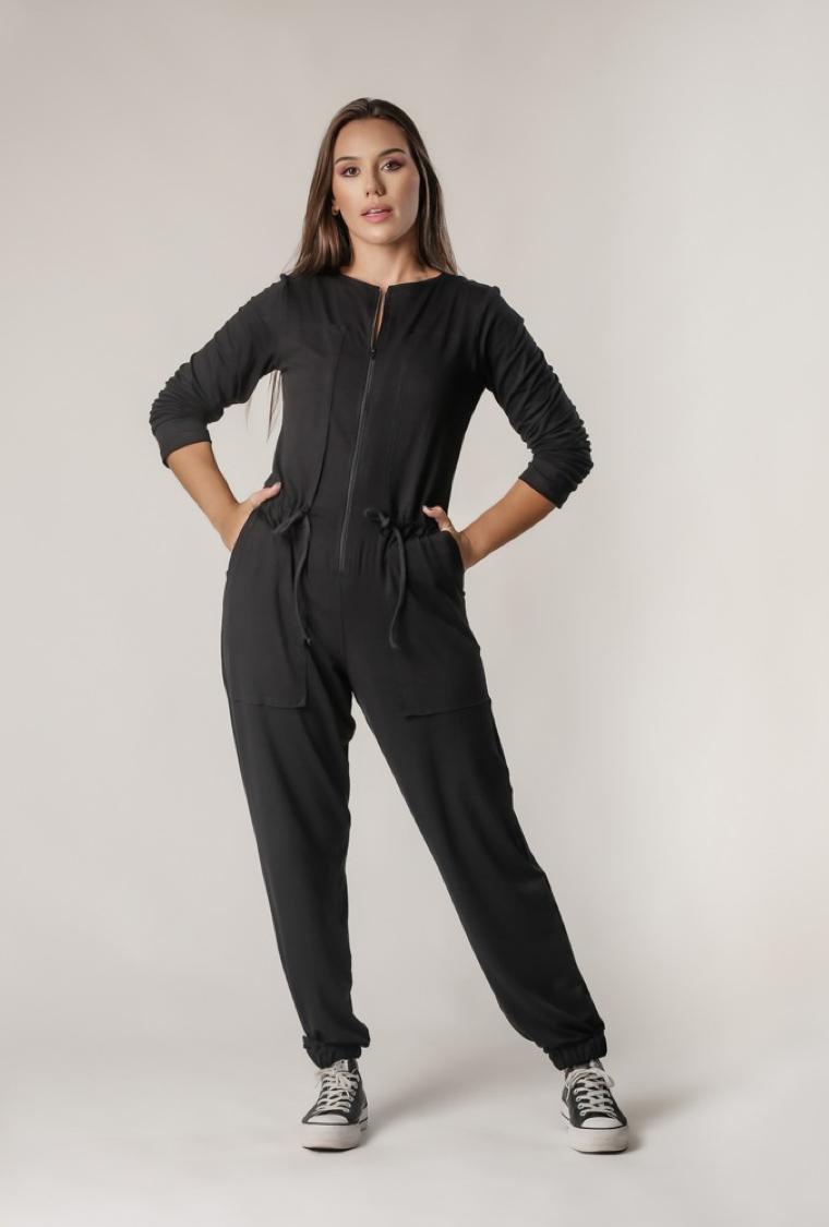 Macacão Comfy Boiler Suit Preto