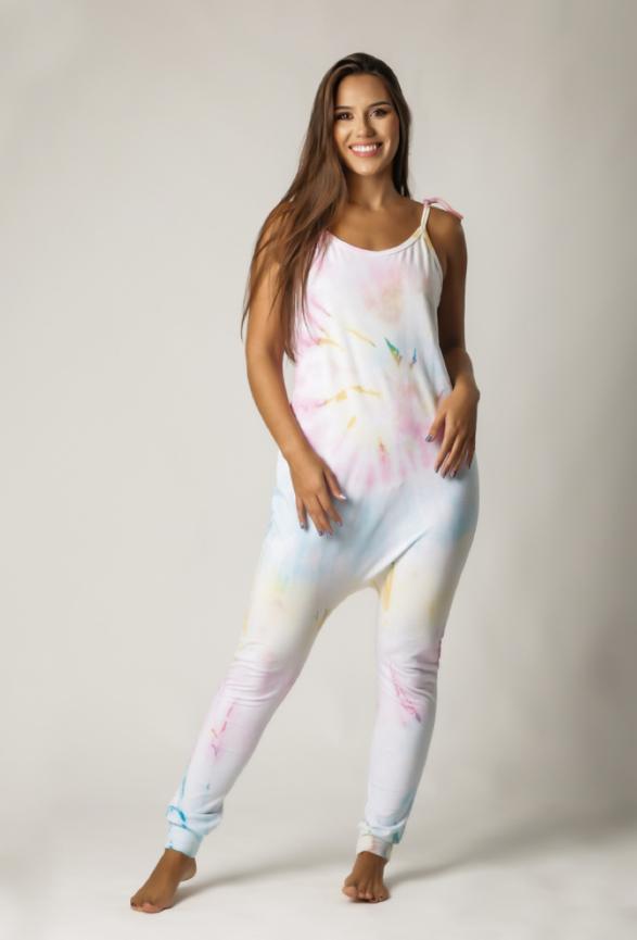 Macacão Feminino Comfy Tie Dye