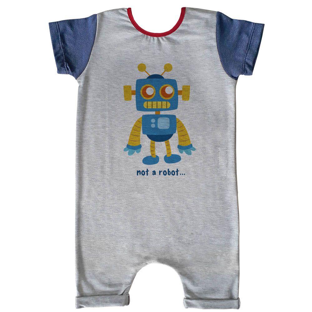 Macacão Curto Comfy Not Robot