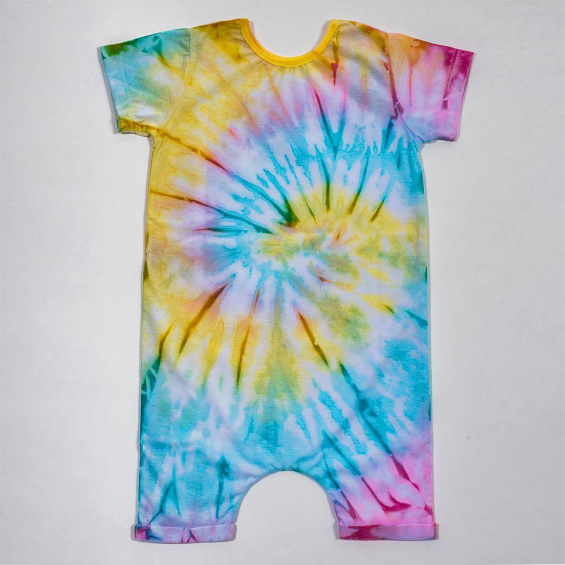 Macacão Curto Comfy Tie Dye