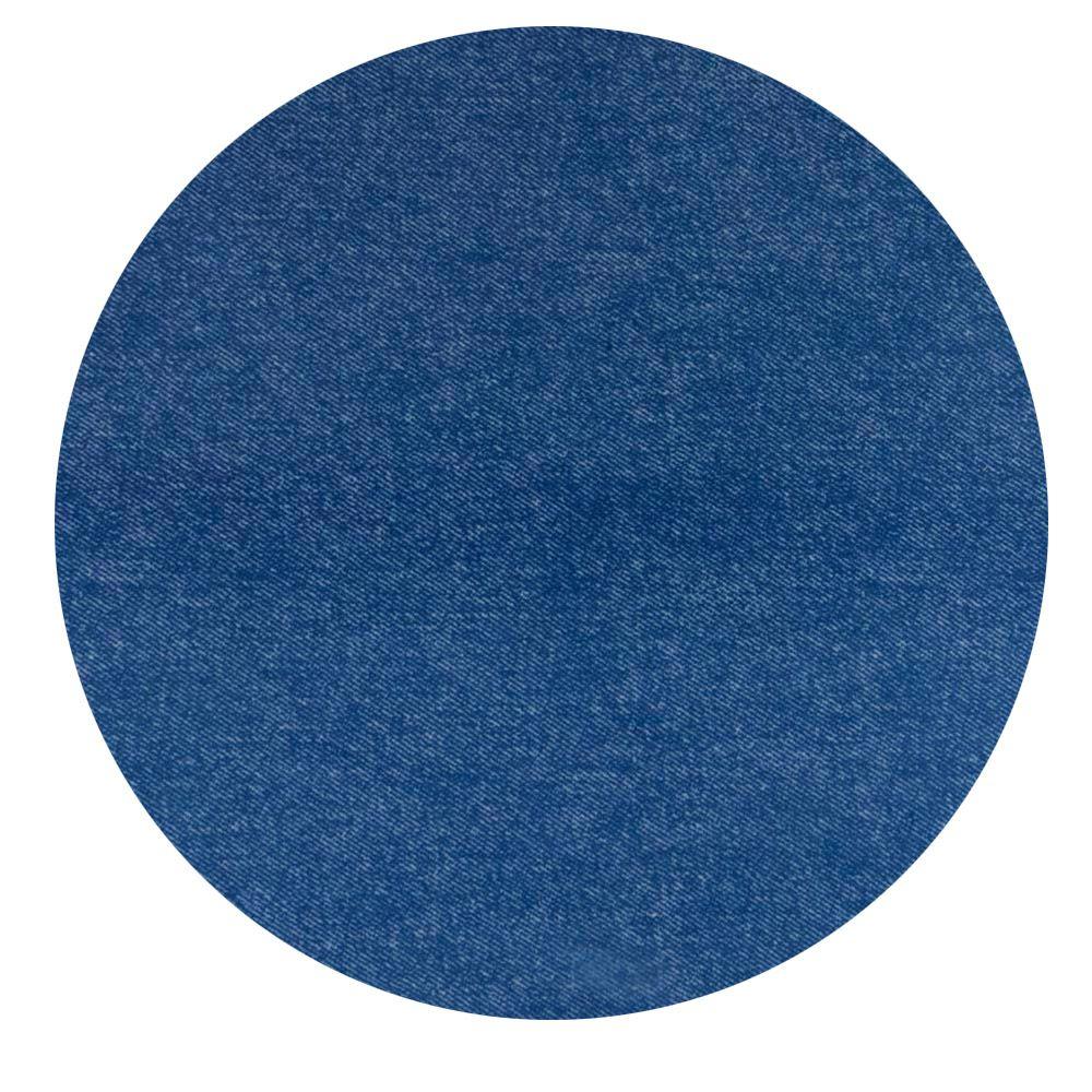 Macacão Curto Jeans Azul com Bolso Listra Preta