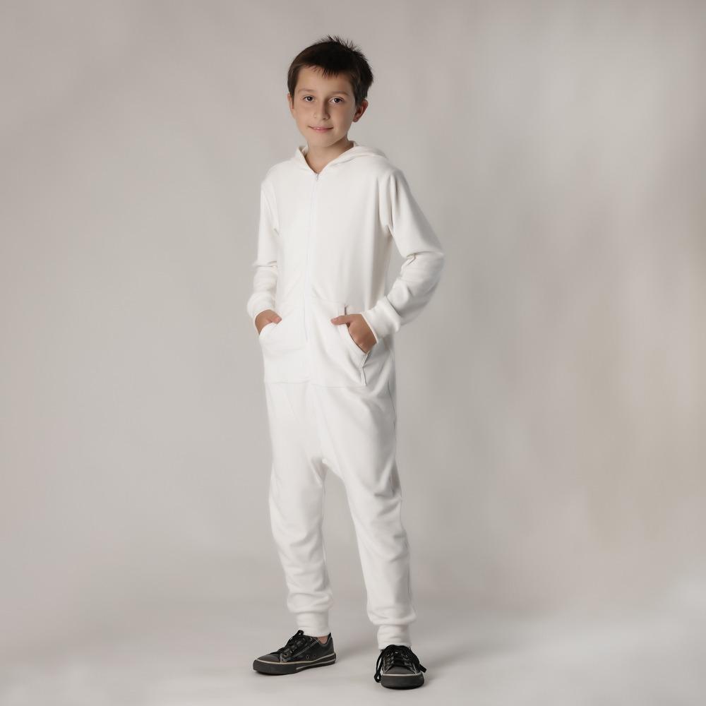 Macacão Infantil Plush Comfy Branco