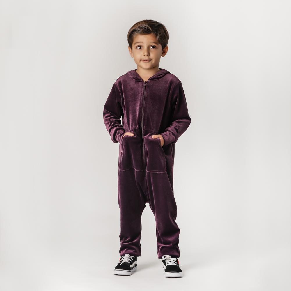 Macacão Infantil Plush Comfy Roxo