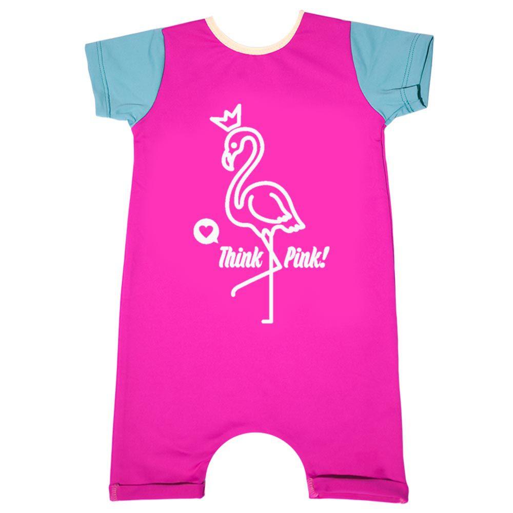 Macacão Lycra Praia Comfy Flamingo