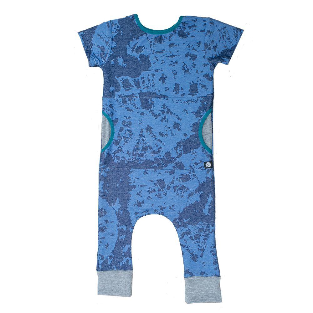 Macacão Pocket Camuflado Azul